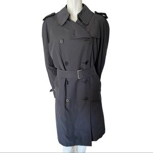 Burberry London Double Breasted Black Trench XL